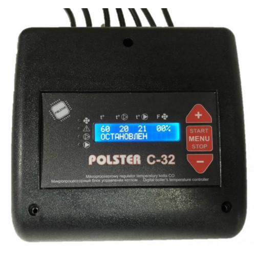 Polster C-32 автоматика управления твердотопливным котлом и двумя насосами