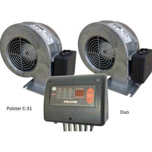 Блок управления Polster C-31 DUO c двумя вентиляторами для твердотопливного котла