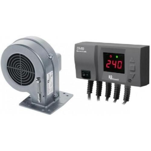 Блок управления KG ELEKTRONIK CS-20 вентилятор DP-02 для твердотопливных котлов