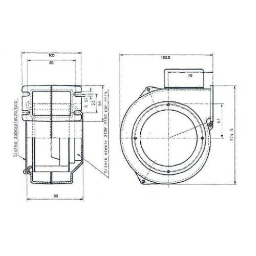 Блок управления PK-22 и вентилятор NWS-79 комплект автоматики для твердотопливных котлов