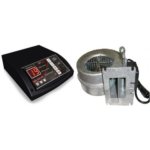 Блок управления Tech ST-24 Sigma и вентилятор WPA-120 для твердотопливных котлов