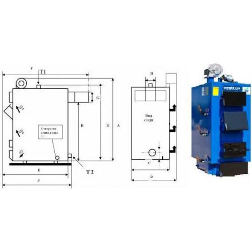 Котел Idmar GK-1 38 кВт длительного горения