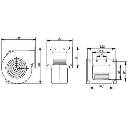 Блок управления Polster C-11 и вентилятор NWS-75 комплект автоматики