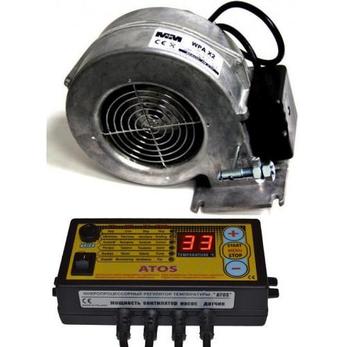 Автоматика Atos c вентилятором X2 для твердотопливного котла